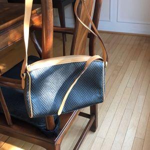 Never used Mark Cross black/grey and tan bag